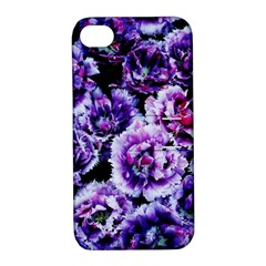 Purple Wildflowers Of Hope Apple Iphone 4/4s Hardshell Case With Stand by FunWithFibro