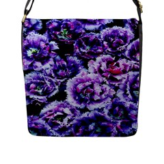 Purple Wildflowers Of Hope Flap Closure Messenger Bag (large) by FunWithFibro