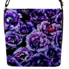 Purple Wildflowers Of Hope Flap Closure Messenger Bag (small) by FunWithFibro