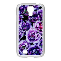 Purple Wildflowers Of Hope Samsung Galaxy S4 I9500/ I9505 Case (white) by FunWithFibro