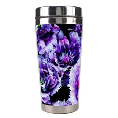 Purple Wildflowers Of Hope Stainless Steel Travel Tumbler by FunWithFibro