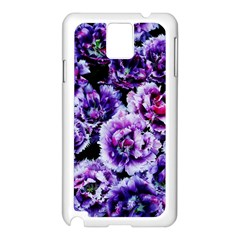 Purple Wildflowers Of Hope Samsung Galaxy Note 3 N9005 Case (white) by FunWithFibro