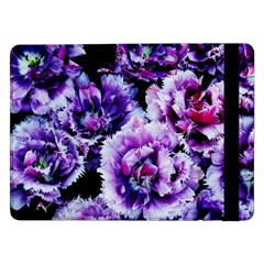 Purple Wildflowers Of Hope Samsung Galaxy Tab Pro 12 2  Flip Case by FunWithFibro
