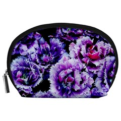 Purple Wildflowers Of Hope Accessories Pouch (large) by FunWithFibro