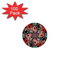 Luxury Ornate Artwork 1  Mini Button (100 Pack) by dflcprints