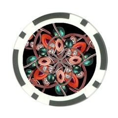 Luxury Ornate Artwork Poker Chip by dflcprints