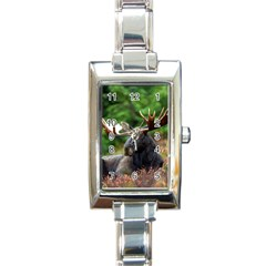 Majestic Moose Rectangular Italian Charm Watch by StuffOrSomething