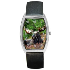 Majestic Moose Tonneau Leather Watch by StuffOrSomething