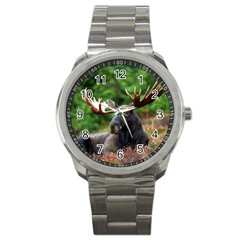 Majestic Moose Sport Metal Watch by StuffOrSomething