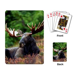 Majestic Moose Playing Cards Single Design by StuffOrSomething