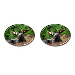 Majestic Moose Cufflinks (oval) by StuffOrSomething