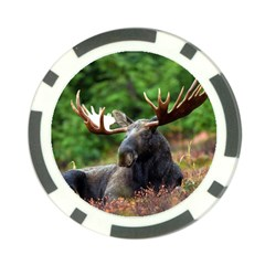 Majestic Moose Poker Chip by StuffOrSomething