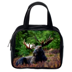 Majestic Moose Classic Handbag (one Side) by StuffOrSomething