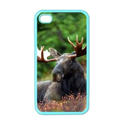 Majestic Moose Apple Iphone 4 Case (color) by StuffOrSomething