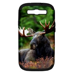 Majestic Moose Samsung Galaxy S Iii Hardshell Case (pc+silicone) by StuffOrSomething