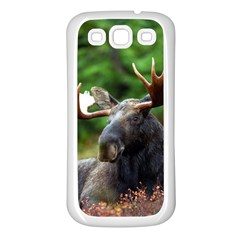 Majestic Moose Samsung Galaxy S3 Back Case (white) by StuffOrSomething