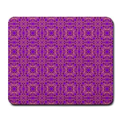 Purple Moroccan Pattern Large Mouse Pad (rectangle) by SaraThePixelPixie