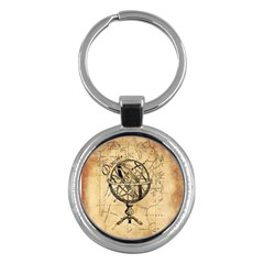 Discover The World Key Chain (round)