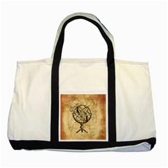 Discover The World Two Toned Tote Bag
