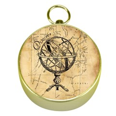 Discover The World Gold Compass