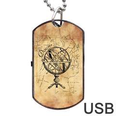 Discover The World Dog Tag Usb Flash (two Sides) by StuffOrSomething