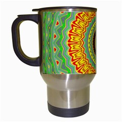 Mandala Travel Mug (white) by Siebenhuehner