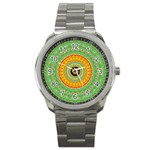 Mandala Sport Metal Watch Front