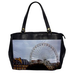 Paris Ferris Wheel Oversize Office Handbag (one Side)
