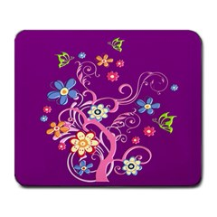 Flowery Flower Large Mouse Pad (rectangle) by SaraThePixelPixie