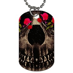 Death And Flowers Dog Tag (two-sided)  by dflcprints