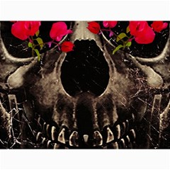 Death And Flowers Canvas 12  X 16  (unframed) by dflcprints
