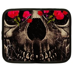 Death And Flowers Netbook Sleeve (xl) by dflcprints