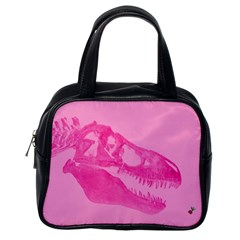 Pink Rex Rules Classic Handbag (one Side)