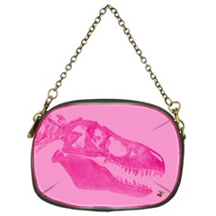 Pink Rex Rules Chain Purse (two Sided)