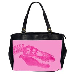 Pink Rex Rules Oversize Office Handbag (two Sides)