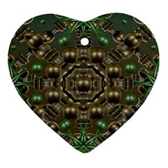 Japanese Garden Heart Ornament (two Sides)