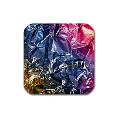 Texture   Rainbow Foil By Dori Stock Drink Coasters 4 Pack (square) by TheWowFactor