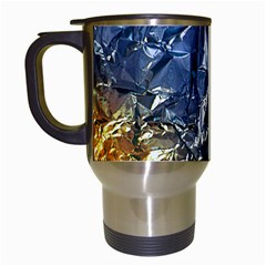 Texture   Rainbow Foil By Dori Stock Travel Mug (white) by TheWowFactor