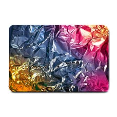 Texture   Rainbow Foil By Dori Stock Small Door Mat by TheWowFactor