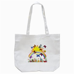Butterfly Rainbow Days Tote Bag (white) by AlteredStates