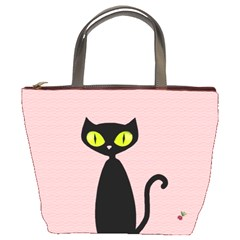 One Cool Cat Bucket Handbag by CrackedRadish