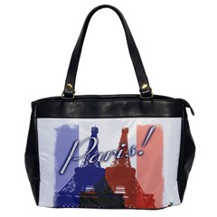 Paris! Oversize Office Handbag (one Side)