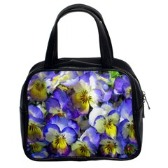 Painted Pansies Classic Handbag (two Sides)