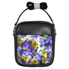 Painted Pansies Girl s Sling Bag