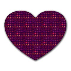 Funky Retro Pattern Mouse Pad (heart) by SaraThePixelPixie