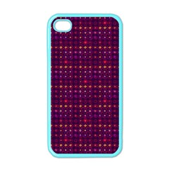 Funky Retro Pattern Apple Iphone 4 Case (color) by SaraThePixelPixie