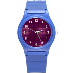 Funky Retro Pattern Plastic Sport Watch (small) by SaraThePixelPixie