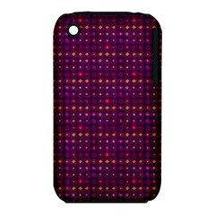 Funky Retro Pattern Apple Iphone 3g/3gs Hardshell Case (pc+silicone) by SaraThePixelPixie