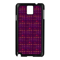 Funky Retro Pattern Samsung Galaxy Note 3 N9005 Case (black) by SaraThePixelPixie