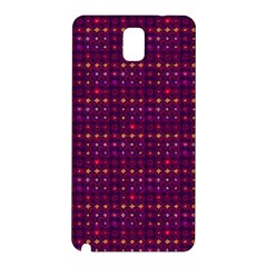 Funky Retro Pattern Samsung Galaxy Note 3 N9005 Hardshell Back Case by SaraThePixelPixie